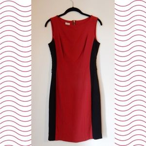 Caché Red and Black Dress
